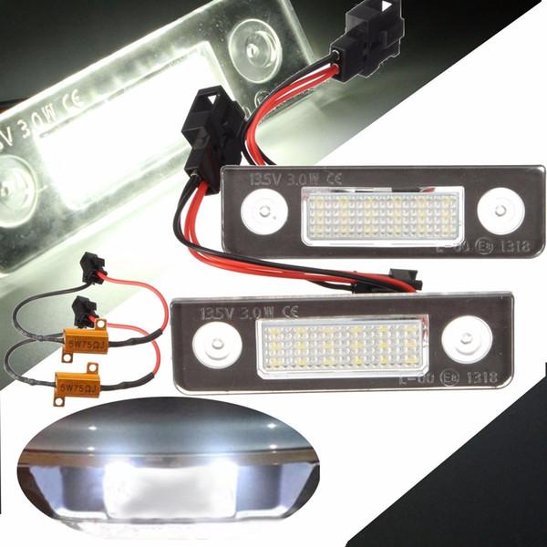 2X LED Number License Plate Lights Lamp for Skoda Octavia 1Z Roomster Error Free