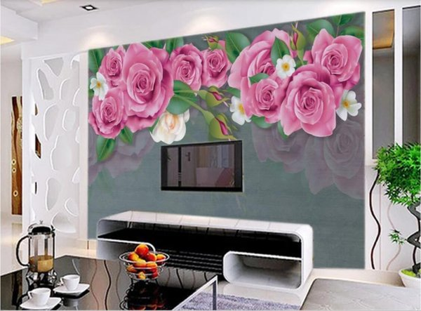 3d Room Wallpaper Custom Photo Non Woven Mural Idyllic Rose Oil Painting Texture European Minimalist Background Wall Art Canvas Pictures Colorful