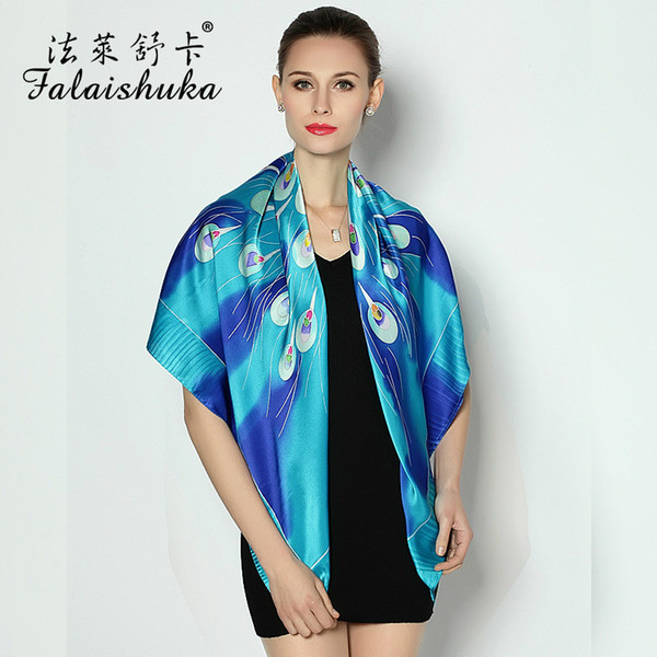 2019 New Arrivals Fashion New silk hand-painted large square scarf High-end ladies silk scarf silk High Quality shawl gift
