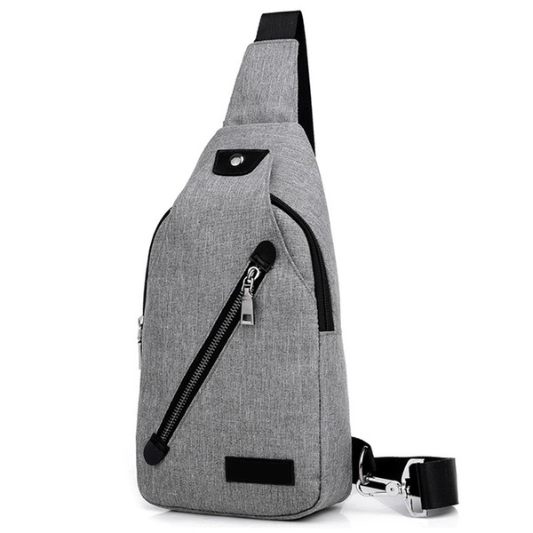 Men Crossbody Bag Portable Shoulder Chest Adjustable Straps Students Daily Wear Resistant Canvas Large Capacity Waterproof