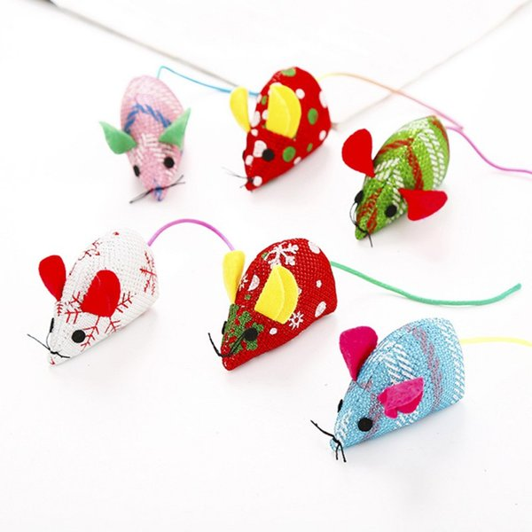 Christmas Mouse.Plush Mouse Cat Pet Toy Christmas Mouse Cat Interactive Toy Kitten Christmas With Catnip Mice Kitten Chew Toys Tease Cute Cat Toys Designer Cat Toys