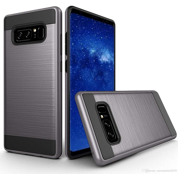 Metal Brushed Protective Case for Samsung S10 Plus 5G S10e S9 S8 Plus Note 10 Pro Note 9 8 ZTE Warp 8 warp 7 Grand X Hybird Phone Cover