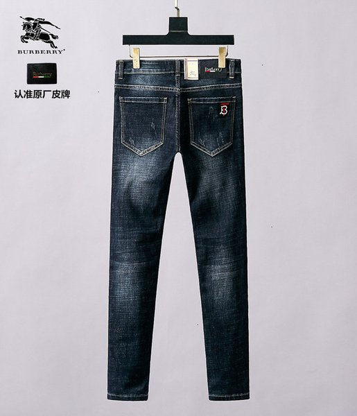 Personnalité Jeans Hommes Taille asiatique 28-38WSJ002 de haute qualité Mode Lettre rouge et blanc Casual Jeans brodé