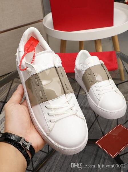2019 Luxury Designer Homens Mulheres Sneakers senhoras meninas Couro Flange envoltório Sapatos Casual Clássico Balck sapatos Pure homens brancos mulheres com jt0816