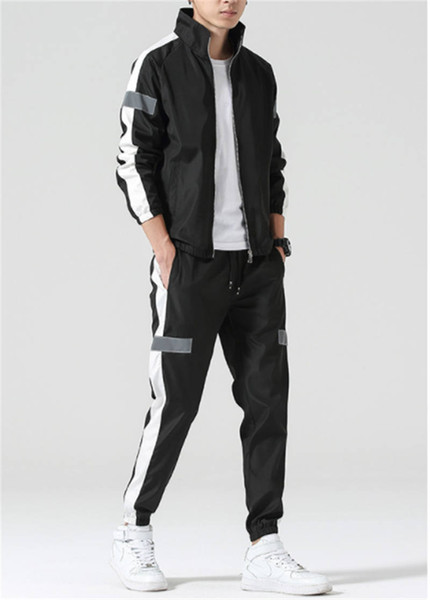 New Mens Designer Tracksuit Sportswear Sweat Suits Striped Brand Mens Tracksuits Jogger Suits Jacket + Pants Sets Sporting Suit