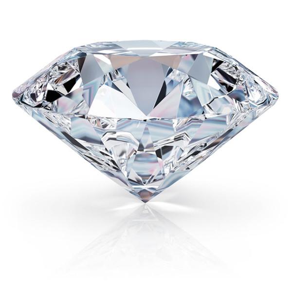RINYIN suelta la piedra preciosa 1.2ct diamante blanco color D VVS1 excelente corte brillante redondo 3EX Moissanite con el certificado