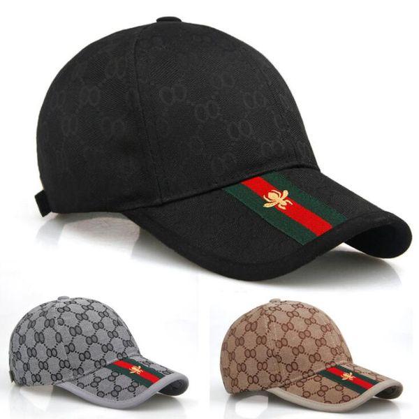 Yeni şapka erkek bahar ve yaz sporları arı ekose beyzbol şapkası bayanlar açık eğlence güneşlik Snapbacks şapka