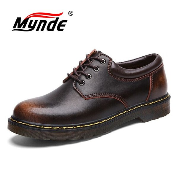 Big Size Marke Breathable Männer Oxford Schuhe Top-Qualität-Kleid-Schuh-Mann-Ebene Arbeiten Sie echtes Leder-beiläufige Schuh-Männer