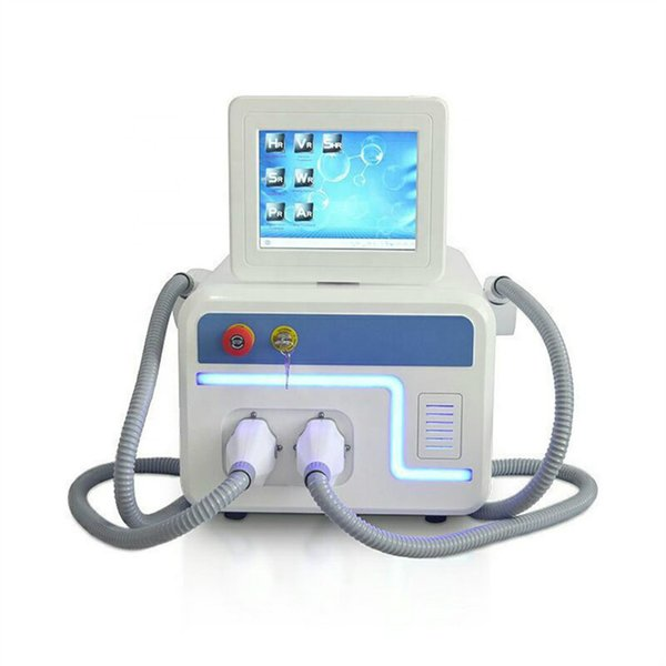 Double IPL SHR machine two handles ipl machine hair removal laser equipment 808nm/755nm with free shipping