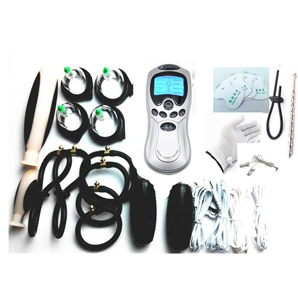 best selling 9-in-1 BDSM Electric Shock Sex Toys for Couples Therapy Massager Bondage Gear Nipple Clips Penis Anal Vaginal Plug Stimulation E-stim Gloves