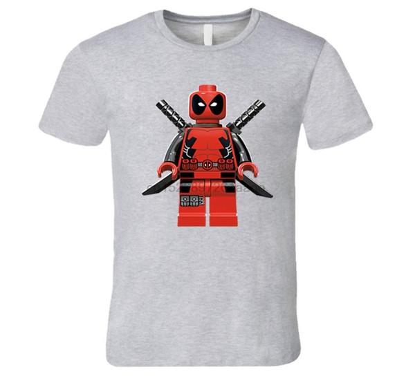 Lego dead pool swords character costume T Shirt