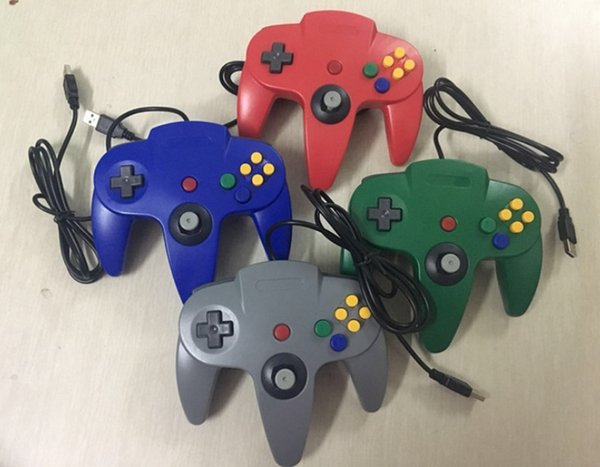 NEW Long Controller Game Pad Joystick System for Nintendo 64 N64 Console opp Packaging