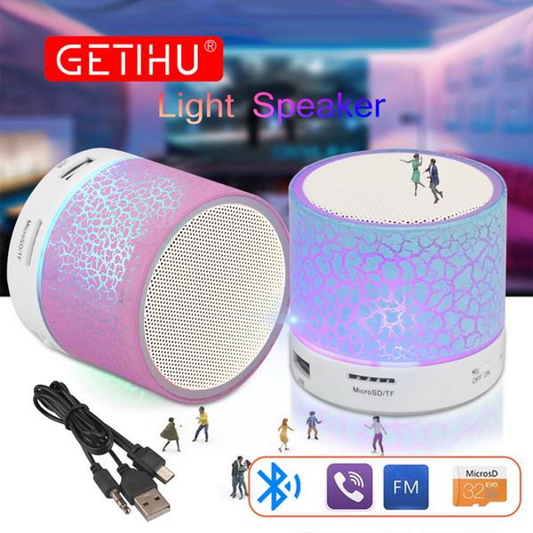 Wireless Portable Bluetooth Speaker Mini LED Music Audio TF USB FM Stereo Sound Speaker For Phone Xiaomi Computer column A
