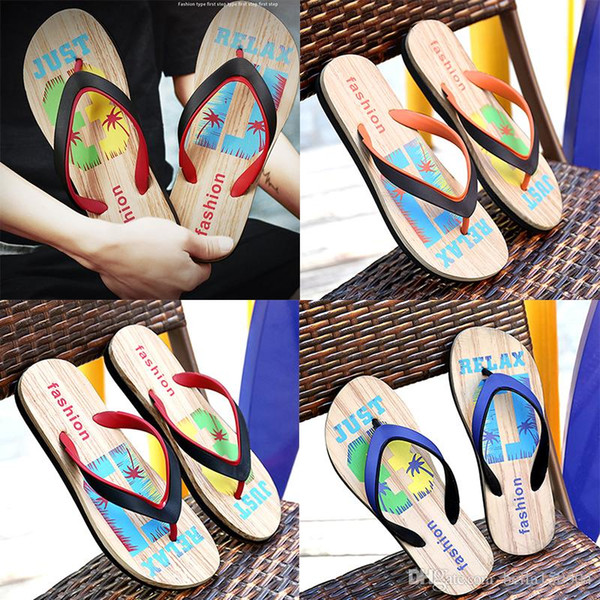 good quality Designer Rubber Non-slip sandals slippers men Designer flower printed beach flip flops slipper summer Hawaii Beach slippers
