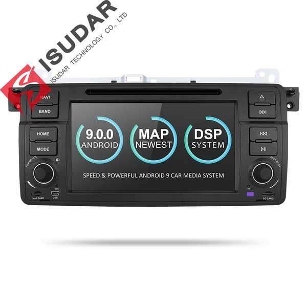 Isudar Car Multimedia Player Android 9 1 Din DVD For BMW/E46/M3/MG/ZT/Rover 75/320/318/325 Quad Core 2GB 16GB Radio FM