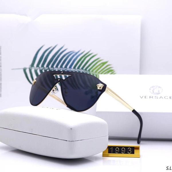 Gafas de sol de diseñador Gafas de sol de lujo Hombre Mujer Marca Gafas de Sol Polorizadas Adumbrales Gafas de Sol Modelo 1993 UV400 6 Colores de Alta Calidad con Caja