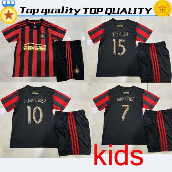 # 7 MARTINEZ kit para niños 19 20 MLS Atlanta United FC camiseta para niños ALMIRON camisetas de fútbol local 2019 2020 VILLALBA Atlanta BARCO camisetas de fútbol