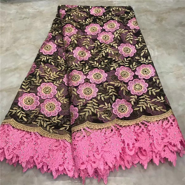 2019 High Quality France Swiss Voile Laces African Swiss Voile Lace 100% Cotton Fabric Pink Voile Lace In Switzerland Lace
