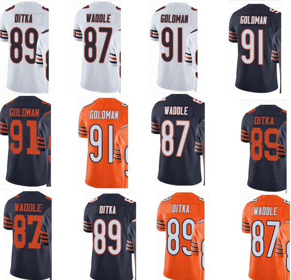 pretty nice 6dc69 2feff Custom Chicago #men/Youth/Women#87 Tom Waddle 89 Mike Ditka 91 Eddie  Goldman Bears Elite Jersey All Shirts Ridiculous T Shirts From Zsyjersey,  $24.37| ...