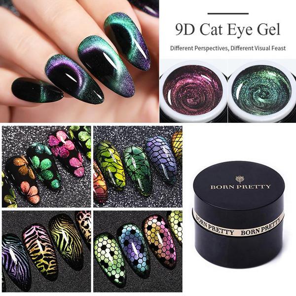 best selling 60 Colors Soak Off UV Gel Polish 5D 9D Magnetic Gel Manicure Nail Art Lacquer Varnish BORN PRETTY Cat Eye Gel Nail Polish