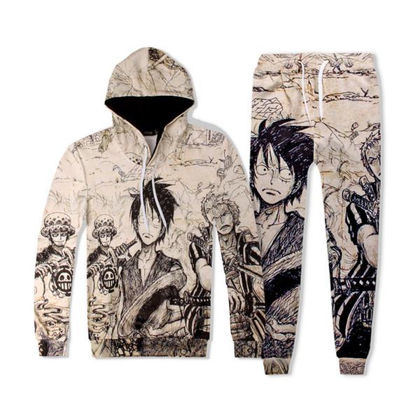 Neue Harajuku Cartoon 3d Print Pullover Sweatshirts Männer Frauen Hoodies Trainingsanzug Mit Kapuze Tops Hosen Sportwear Outfit