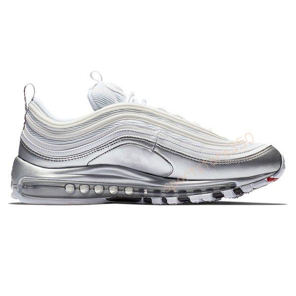12 metallic silver white