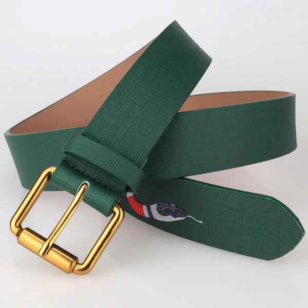 perno di disegno 2017 modo dell'inarcamento del serpente modello animale Cinture lusso di qualità cintura per uomo e donna genuina Cintura in pelle per il regalo