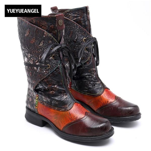 Cinghie di avvio per Stivali Da Cowboy Stivali lunghi o Western Buckle in Vera Pelle