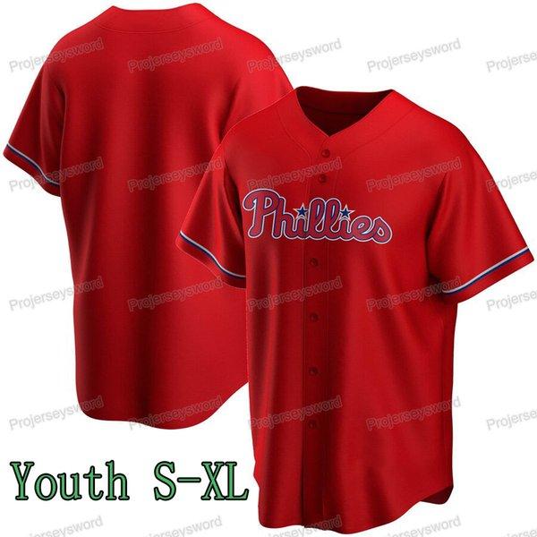 청소년 빨간색 S-XL