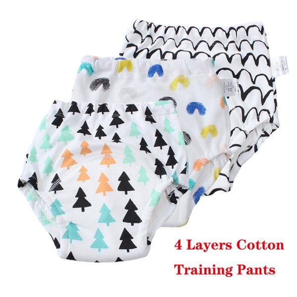 best selling Potty Training Pants 4 Layers Reusable Underwear for Toddlers Soft Cotton Training Pants High Quality Cloth Diapers