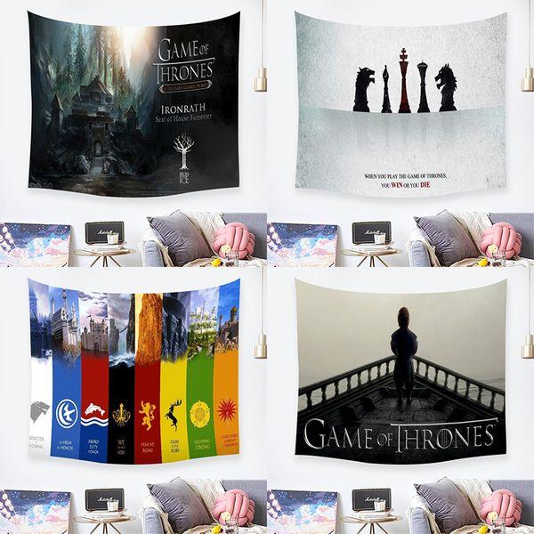 Game of Thrones Flagge Kunst Wandteppiche Badezimmer Outdoor Wandteppich Wandbehang Blatt Picknick Tuch Wohnkultur Geschenk