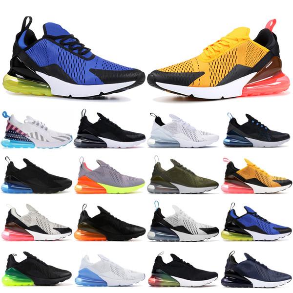 Top Men Shoes CNY 2019 Triple Black White 270OG Firecracker Laser Orange Multi Color Running Sneakers Dusty Cactus Be True Designer Shoes Running