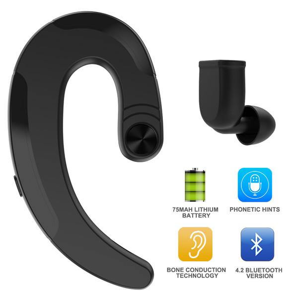 Os Conduction Écouteurs Sans Fil Casque Bluetooth Mains Libres Écouteur Avec Micro Écouteurs Sport Casque pour Xiaomi Pour iPhone