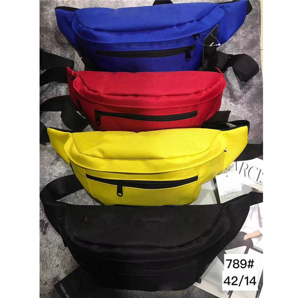 best selling Wholesale 4 Colors Chest Bag Oxford Waist Leisure Shoulder Bags Fanny Pack for Women Girls Letter Waist Bag Packs Free Shipping