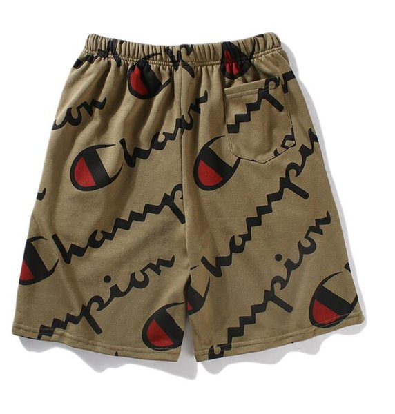 Designer brand shorts champion brand LuxurySSbrand full Indian army green letters sports casual shorts sweatpants five pants casual pants