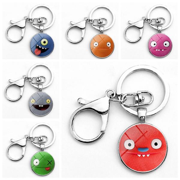 6 Styles Uglydolls Keychain Cartoon Uglydolls Key Ring Christmas Gifts for Baby Charms Uglydolls Bag Pendant Party Favor CCA11615 60pcs