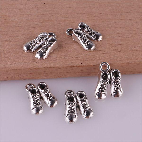 23370 100шт Тибетский серебряные обувь ожерелье DIY браслет серьги шпилька ювелирных изделий металла мобильный телефон украшения кулон