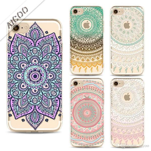 Funda iPhone 7 Plus / iPhone 8 Plus Silicona Mandala Brillantes
