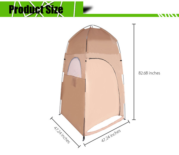 top popular Portable Toilet Tent Collapsible Shower Tent Beach Shower Outdoor Camping Changing Room Pop Up Privacy Tent with Carry Bag 2021