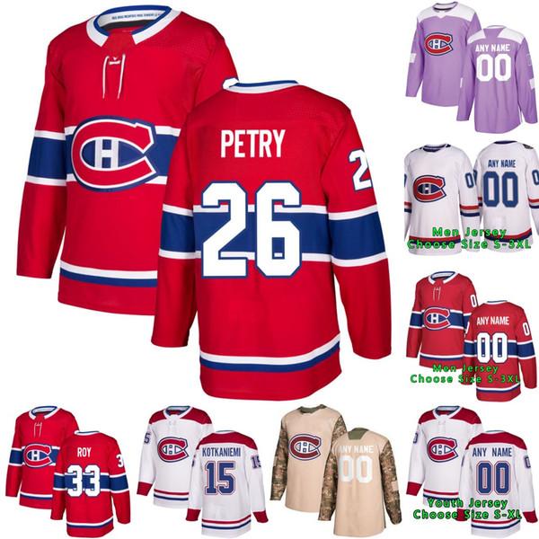 26 Jeff Petry Montreal Kanada Max Domi Patrick Roy Shea Weber Carey Preis Tomas Tatar Chris Chelios Gallagher Jesperi Kotkaniemi Trikot