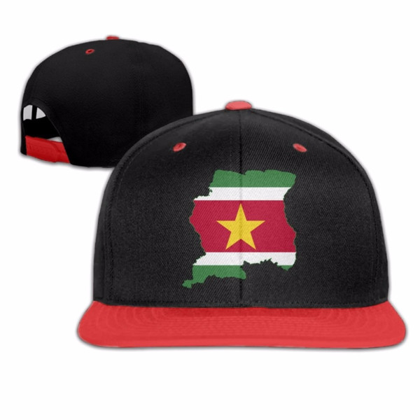 Flag Map Of Greater Suriname Hip Hop Caps Camping Baseball Caps Unisex Adults Bill Hiphop Hats