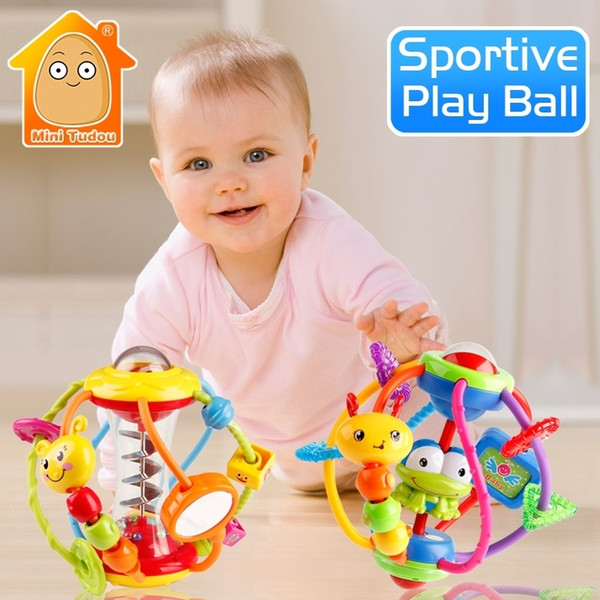 Rattle Activity Rattles Educational For Babies Grasping Ball Puzzle Playgro Baby Toys 0-12 Months Climb Learning Q190604