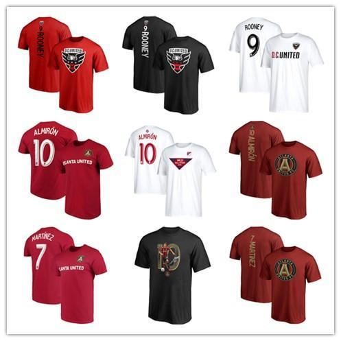 Новый футбол MLS # 7 Блейк Мартинес # 9 Уэйн Руни, округ Колумбия # 10 Мигель Альмирон Юнайтед Фанатики Футболки с фирменным логотипом Backer Black Red