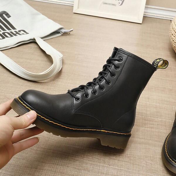 Tendance personnalité 2019 Martin Dr Martins Femme Martin Femme Boot Doc Aston Bottes Chaussures de sport Chaussures de travail Semelle en cuir d'hiver Moteur
