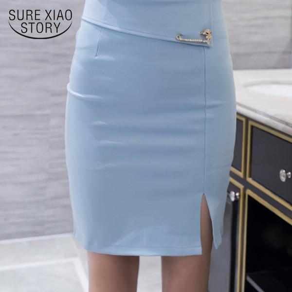 fashion woman skirts 2019 Sexy Slim office work wear pencil skirt high waist formal women skirt plus size 3XL 4XL 5XL 159F 40