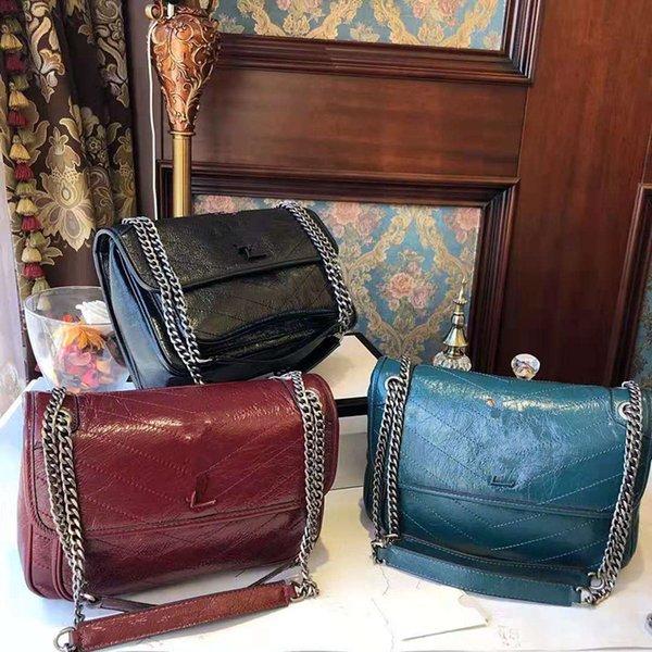 Mujer 2019 Nueva moda Street Bag Messenger Bag inclinado Lady Hand El bolso de hombro Bill of Lading es de alta calidad para niñas y mujeres