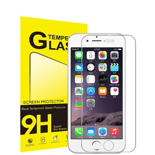0.3mm 2.5D gehärtetes Glas-Schirm-Schutz für iphone X 8 7 6 5 / 5S HD gehärteten schützenden Film mit Verpackung DHL ssc004