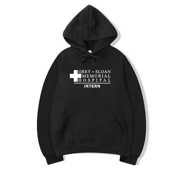 Pkorli Grey'S Anatomy Sweatshirt Men Women Grey+ Sloan Memorial Hospital Intern Hoodie Pullovers Long Sleeve Fleece Hoody