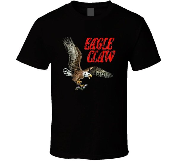 Eagle Claw Fishing Lover Products Cool Gift Worn Look T Shirt Funny 100% Cotton T Shirt Suit Hat Pink T-shirt