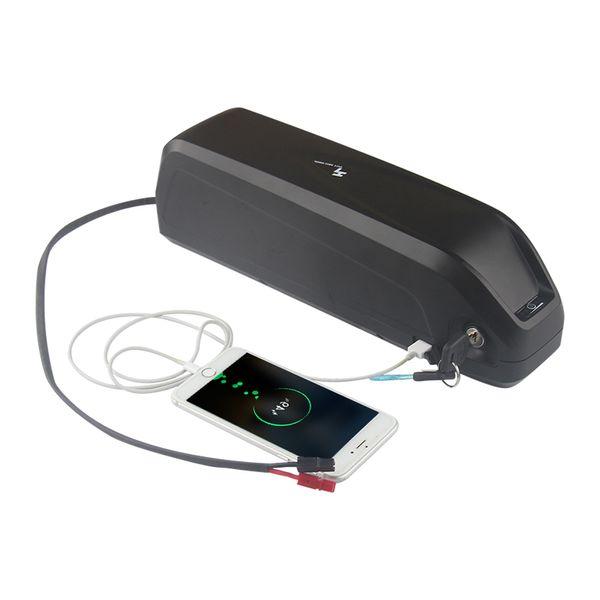 Batería recargable li ion e bike de circulación profunda 36v 17AH Con 5V toma USB e interruptor de alimentación + Cargador Envío gratis